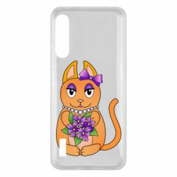 Чохол для Xiaomi Mi A3 Girl cat with flowers