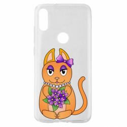 Чехол для Xiaomi Mi Play Girl cat with flowers