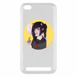 Чехол для Xiaomi Redmi 5a Girl demon art - FatLine