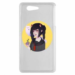 Чехол для Sony Xperia Z3 mini Girl demon art - FatLine