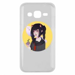Чехол для Samsung J2 2015 Girl demon art - FatLine