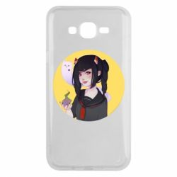 Чехол для Samsung J7 2015 Girl demon art - FatLine
