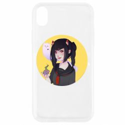 Чехол для iPhone XR Girl demon art - FatLine