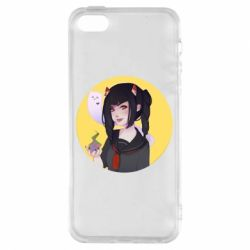 Чехол для iPhone5/5S/SE Girl demon art - FatLine