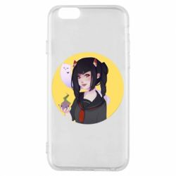 Чехол для iPhone 6/6S Girl demon art - FatLine