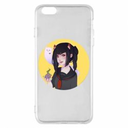 Чехол для iPhone 6 Plus/6S Plus Girl demon art - FatLine