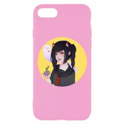 Чехол для iPhone 8 Girl demon art - FatLine