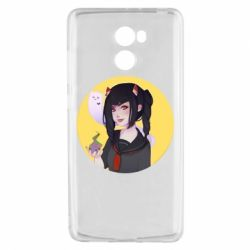 Чехол для Xiaomi Redmi 4 Girl demon art - FatLine