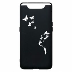 Чехол для Samsung A80 Girl face and butterfly