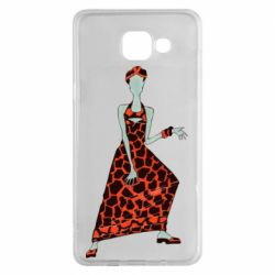 Чехол для Samsung A5 2016 Girl in a dress without a face