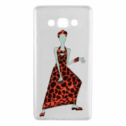 Чехол для Samsung A7 2015 Girl in a dress without a face