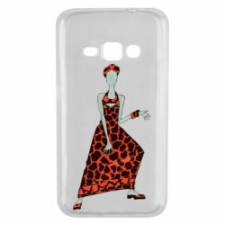 Чехол для Samsung J1 2016 Girl in a dress without a face