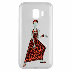 Чехол для Samsung J2 2018 Girl in a dress without a face
