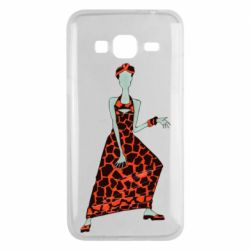 Чехол для Samsung J3 2016 Girl in a dress without a face