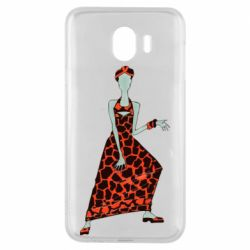Чехол для Samsung J4 Girl in a dress without a face