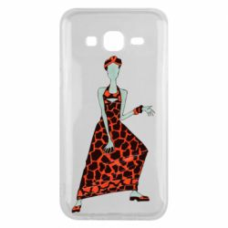 Чехол для Samsung J5 2015 Girl in a dress without a face