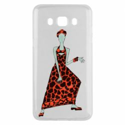 Чехол для Samsung J5 2016 Girl in a dress without a face