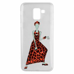 Чехол для Samsung J6 Girl in a dress without a face
