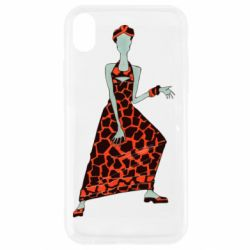 Чехол для iPhone XR Girl in a dress without a face