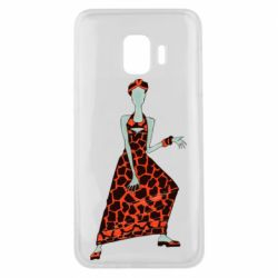 Чехол для Samsung J2 Core Girl in a dress without a face