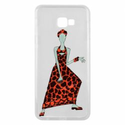 Чехол для Samsung J4 Plus 2018 Girl in a dress without a face