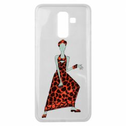 Чехол для Samsung J8 2018 Girl in a dress without a face