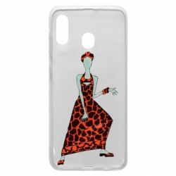 Чехол для Samsung A30 Girl in a dress without a face