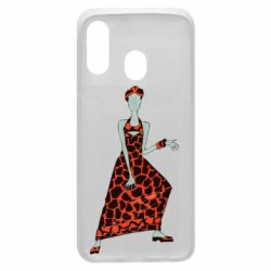 Чехол для Samsung A40 Girl in a dress without a face