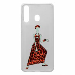 Чехол для Samsung A60 Girl in a dress without a face