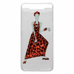 Чехол для Samsung A80 Girl in a dress without a face