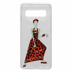 Чехол для Samsung S10 Girl in a dress without a face