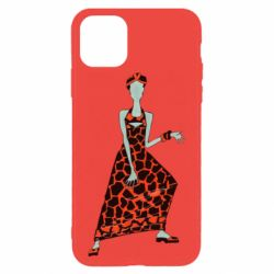 Чехол для iPhone 11 Pro Max Girl in a dress without a face