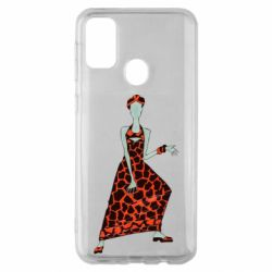 Чехол для Samsung M30s Girl in a dress without a face
