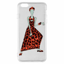 Чехол для iPhone 6 Plus/6S Plus Girl in a dress without a face
