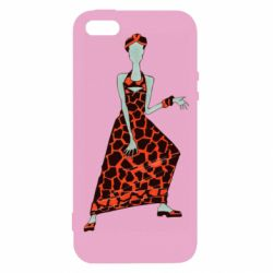 Чехол для iPhone5/5S/SE Girl in a dress without a face