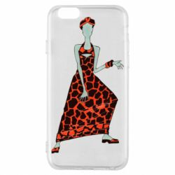 Чехол для iPhone 6/6S Girl in a dress without a face