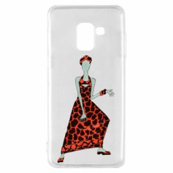 Чехол для Samsung A8 2018 Girl in a dress without a face