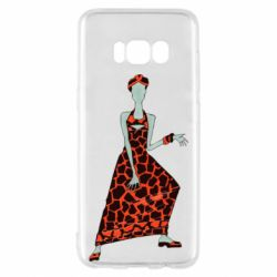 Чехол для Samsung S8 Girl in a dress without a face