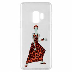 Чехол для Samsung S9 Girl in a dress without a face