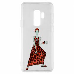 Чехол для Samsung S9+ Girl in a dress without a face