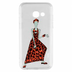Чехол для Samsung A3 2017 Girl in a dress without a face