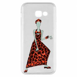 Чехол для Samsung A5 2017 Girl in a dress without a face