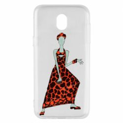 Чехол для Samsung J5 2017 Girl in a dress without a face