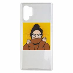 Чехол для Samsung Note 10 Plus Girl in a sweater