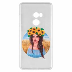Чехол для Xiaomi Mi Mix 2 Girl in a wreath of sunflowers
