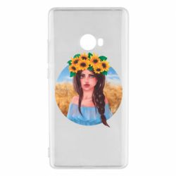 Чехол для Xiaomi Mi Note 2 Girl in a wreath of sunflowers