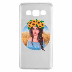 Чехол для Samsung A3 2015 Girl in a wreath of sunflowers