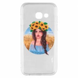 Чехол для Samsung A3 2017 Girl in a wreath of sunflowers