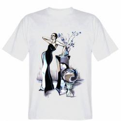 Чоловіча футболка Girl in black with a ball