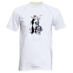 Чоловіча спортивна футболка Girl in black with a ball